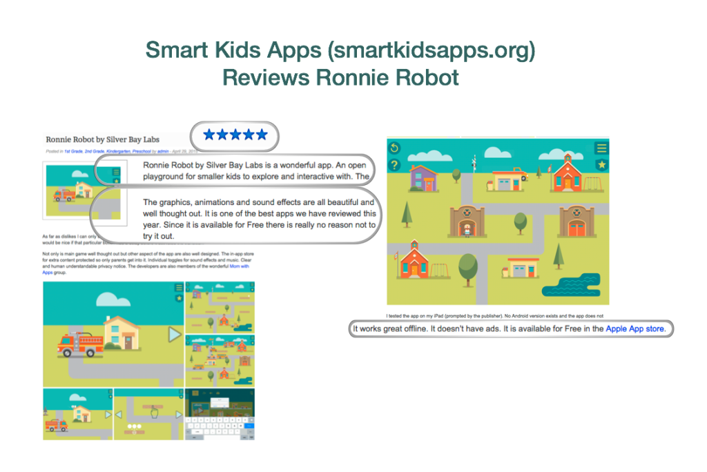 smart kids apps review of Ronnie Robot
